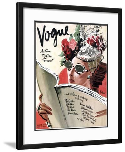 Vogue Cover - July 1941-Ren? Bou?t-Willaumez-Framed Giclee Print