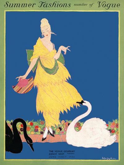 Vogue Cover - June 1914-Helen Dryden-Premium Giclee Print