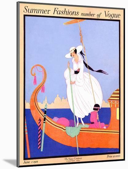 Vogue Cover - June 1916-Helen Dryden-Mounted Premium Giclee Print