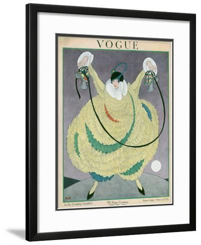 Vogue Cover - June 1917-George Wolfe Plank-Framed Giclee Print
