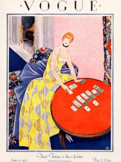 Vogue Cover - June 1925-George Wolfe Plank-Premium Giclee Print