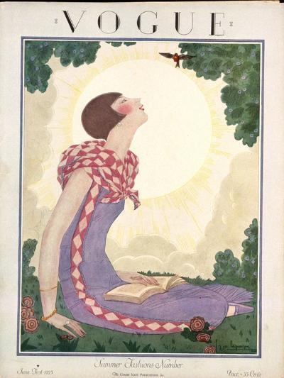Vogue Cover - June 1925-Georges Lepape-Premium Giclee Print