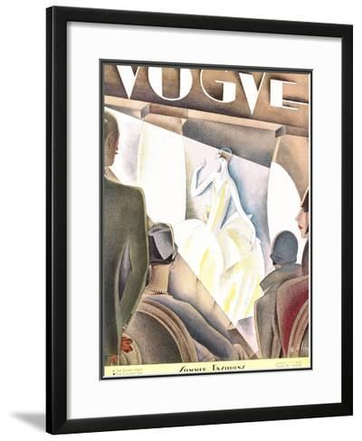 Vogue Cover - June 1926-William Bolin-Framed Giclee Print