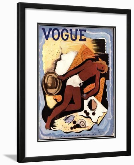 Vogue Cover - June 1933-Georges Lepape-Framed Giclee Print