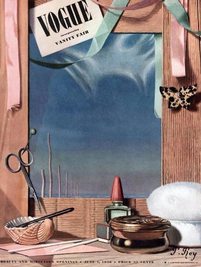 Vogue Cover - June 1936-Pierre Roy-Premium Giclee Print