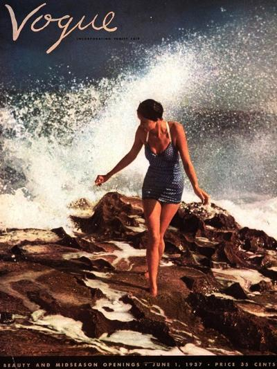 Vogue Cover - June 1937-Toni Frissell-Premium Giclee Print