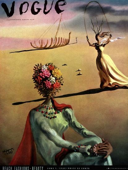 Vogue Cover - June 1939 - Dali's Dreams-Salvador Dal?-Premium Giclee Print