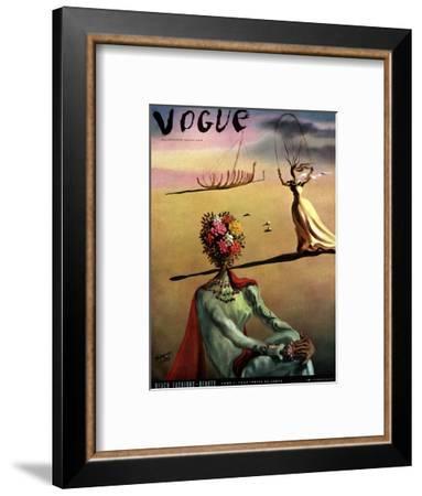 Vogue Cover - June 1939 - Dali's Dreams-Salvador Dalí-Framed Premium Giclee Print