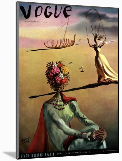 Vogue Cover - June 1939 - Dali's Dreams-Salvador Dalí-Mounted Premium Giclee Print