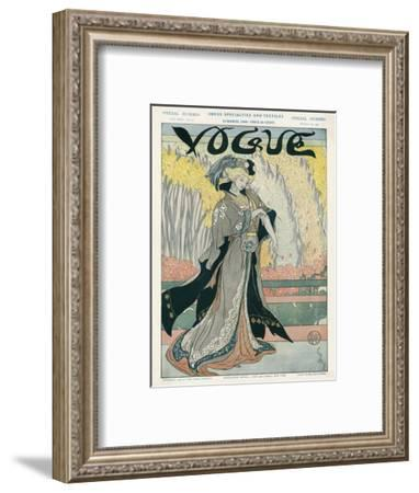 Vogue Cover - March 1908--Framed Premium Giclee Print
