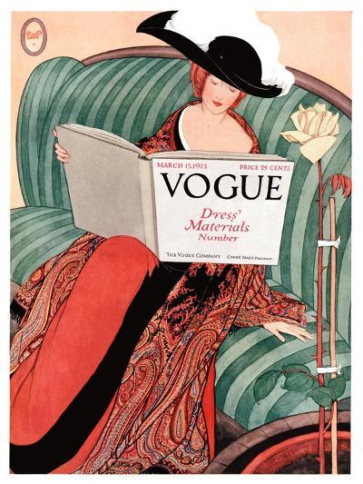 Vogue Cover - March 1912-George Wolfe Plank-Premium Giclee Print