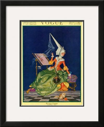 Vogue Cover - March 1917-F^x^ Leyendecker-Framed Giclee Print