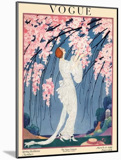 Vogue Cover - March 1919-Helen Dryden-Mounted Premium Giclee Print