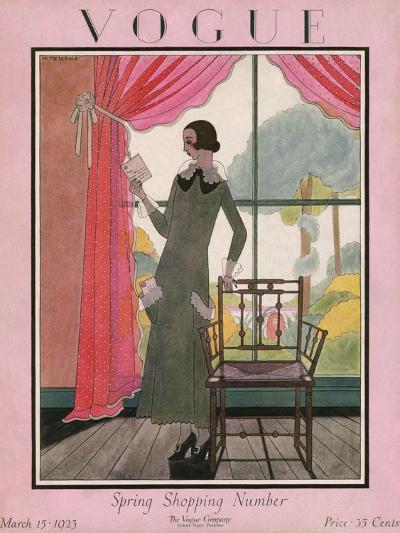 Vogue Cover - March 1923-Harriet Meserole-Premium Giclee Print