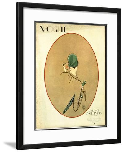 Vogue Cover - March 1926-Porter Woodruff-Framed Giclee Print