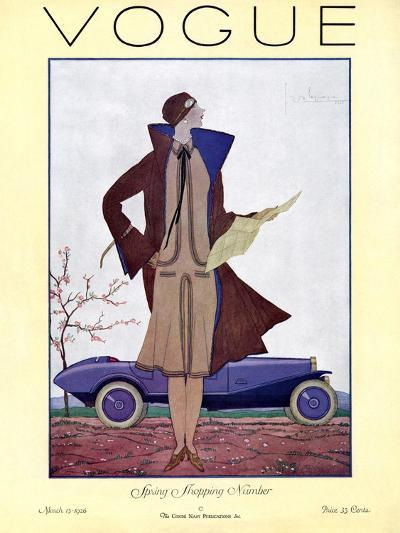 Vogue Cover - March 1926-Georges Lepape-Premium Giclee Print