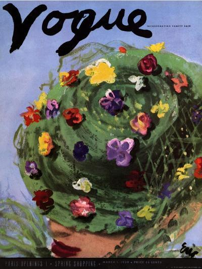 "Vogue Cover - March 1939-Carl ""Eric"" Erickson-Premium Giclee Print"