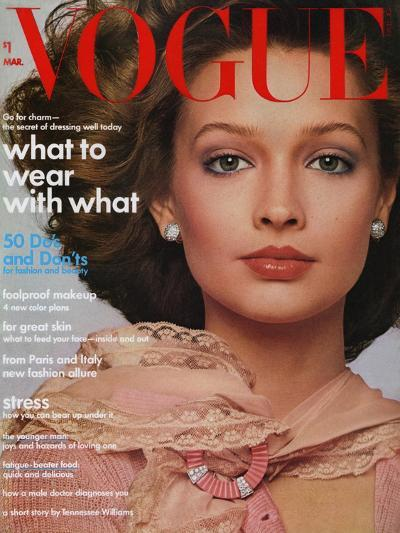 Vogue Cover - March 1974-Francesco Scavullo-Premium Giclee Print