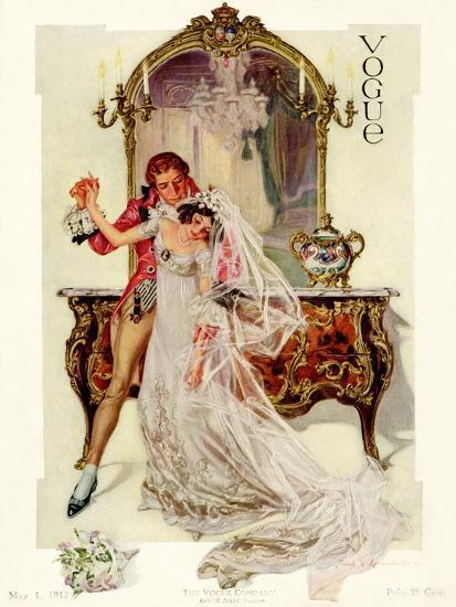 Vogue Cover - May 1912-Frank X. Leyendecker-Premium Giclee Print