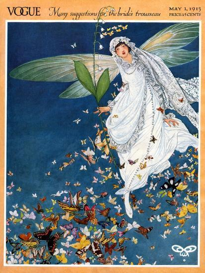 Vogue Cover - May 1913-George Wolfe Plank-Premium Giclee Print