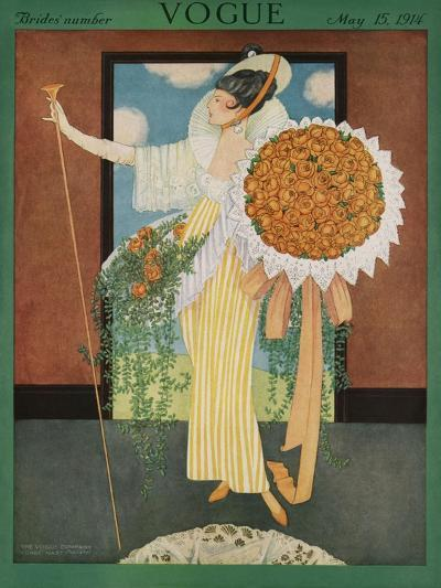 Vogue Cover - May 1914-George Wolfe Plank-Premium Giclee Print