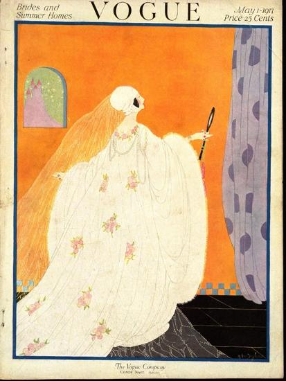 Vogue Cover - May 1917-Helen Dryden-Premium Giclee Print