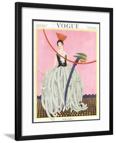 Vogue Cover - May 1922-George Wolfe Plank-Framed Giclee Print
