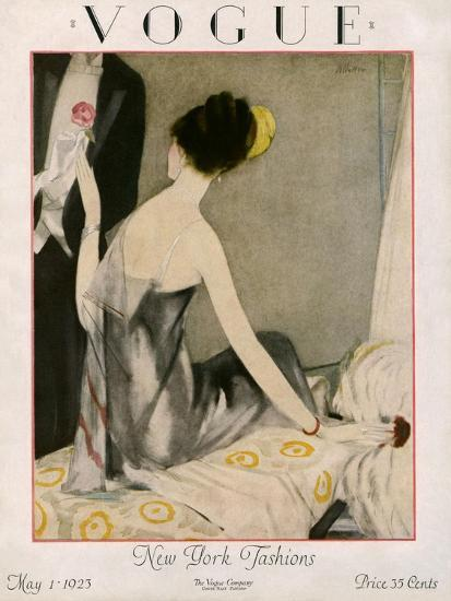 Vogue Cover - May 1923-Henry R. Sutter-Premium Giclee Print