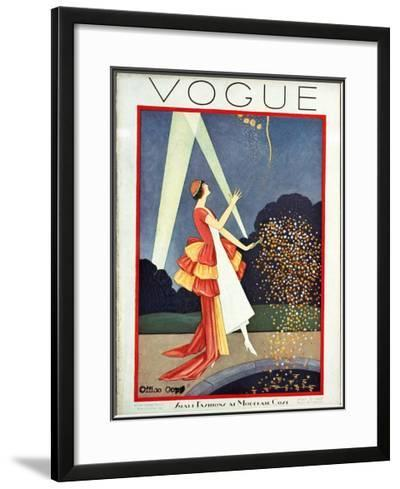 Vogue Cover - May 1926-George Wolfe Plank-Framed Giclee Print