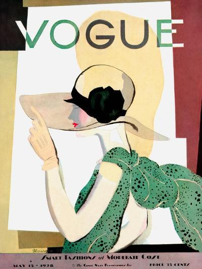 Vogue Cover - May 1928 - Smart Fashion-Pierre Mourgue-Premium Giclee Print