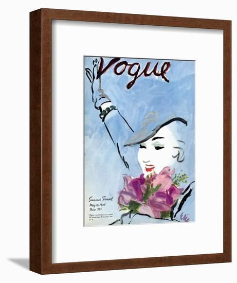 "Vogue Cover - May 1935-Carl ""Eric"" Erickson-Framed Premium Giclee Print"