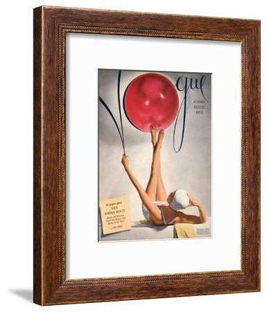 Vogue Cover - May 1941 - Having a Ball-Horst P. Horst-Framed Premium Giclee Print