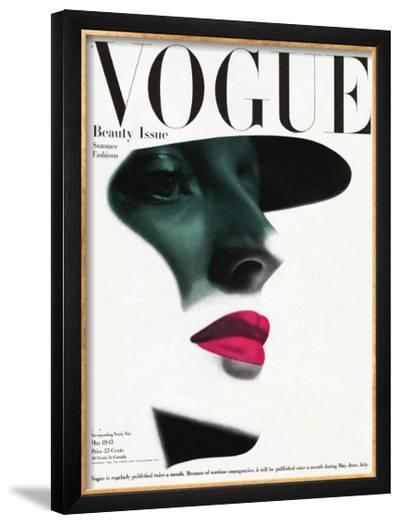 Vogue Cover - May 1945 - In the Shade-Erwin Blumenfeld-Framed Giclee Print