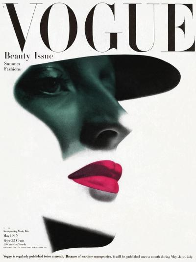 Vogue Cover - May 1945 - In the Shade-Erwin Blumenfeld-Premium Giclee Print