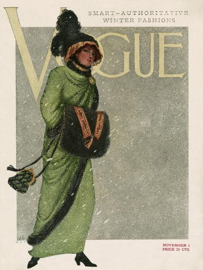 Vogue Cover - November 1910--Premium Giclee Print