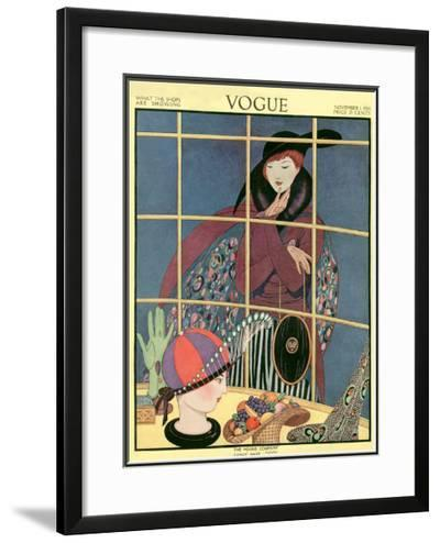 Vogue Cover - November 1914-George Wolfe Plank-Framed Giclee Print