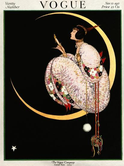 Vogue Cover - November 1917 - Moon and Mirror-George Wolfe Plank-Premium Giclee Print