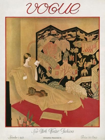 Vogue Cover - November 1923-Eduard Buk Ulreich-Premium Giclee Print