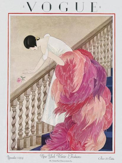 Vogue Cover - November 1924-George Wolfe Plank-Premium Giclee Print