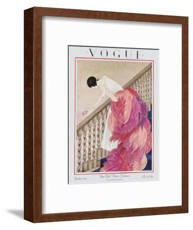 Vogue Cover - November 1924-George Wolfe Plank-Framed Premium Giclee Print