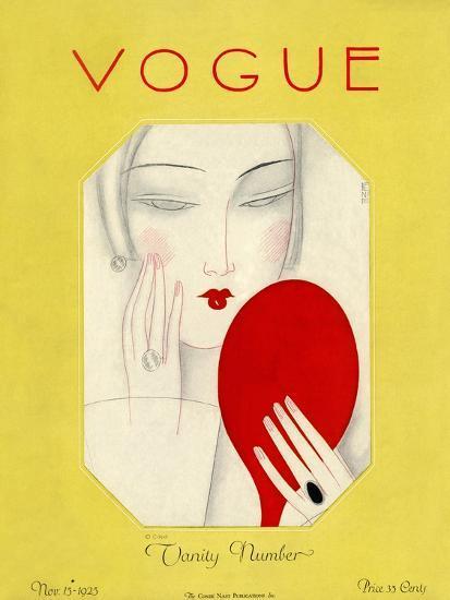 Vogue Cover - November 1925-Eduardo Garcia Benito-Premium Giclee Print