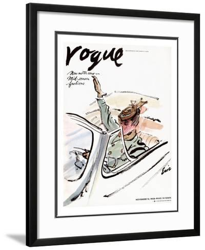 "Vogue Cover - November 1938-Carl ""Eric"" Erickson-Framed Giclee Print"