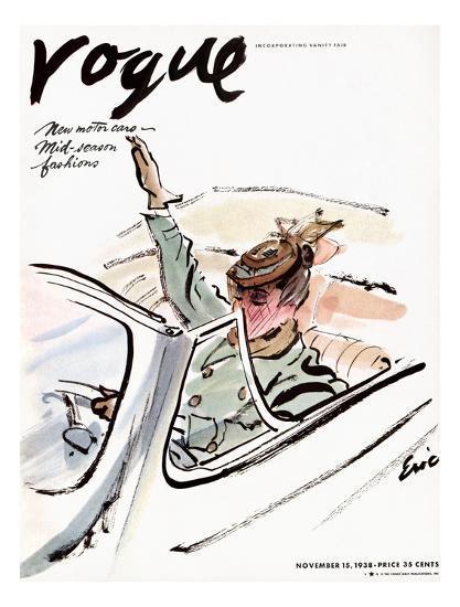 "Vogue Cover - November 1938-Carl ""Eric"" Erickson-Premium Giclee Print"