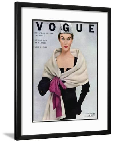Vogue Cover - November 1952-Frances Mclaughlin-Gill-Framed Giclee Print