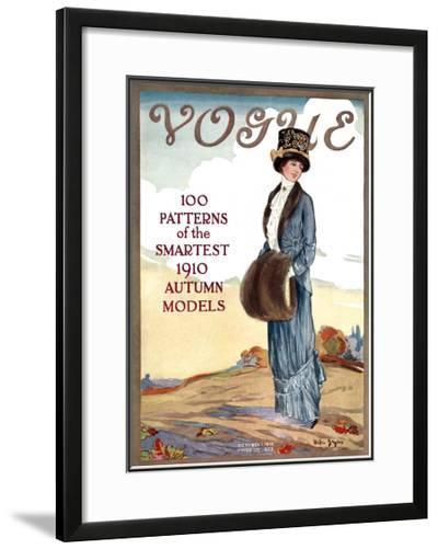 Vogue Cover - October 1910-Helen Dryden-Framed Giclee Print