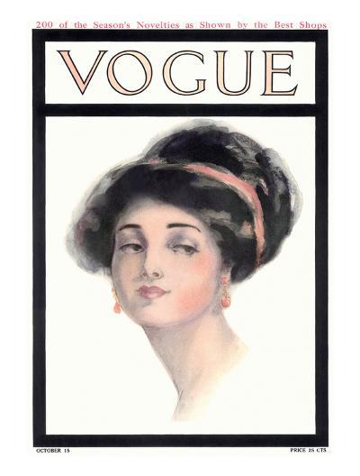 Vogue Cover - October 1910-Helen Dryden-Premium Giclee Print