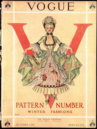 Vogue Cover - October 1911-Frank X. Leyendecker-Premium Giclee Print