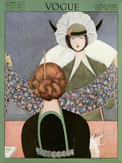 Vogue Cover - October 1913-George Wolfe Plank-Premium Giclee Print