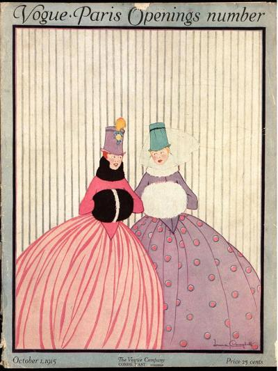 Vogue Cover - October 1915-Irma Campbell-Premium Giclee Print