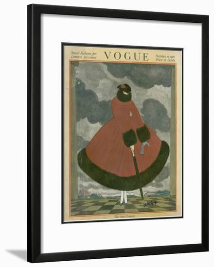 Vogue Cover - October 1917-Georges Lepape-Framed Giclee Print